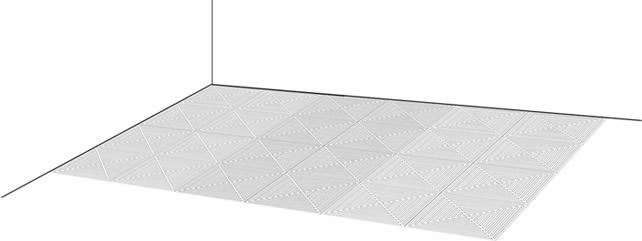 重复以上三步即可铺设完成排水拼接格栅