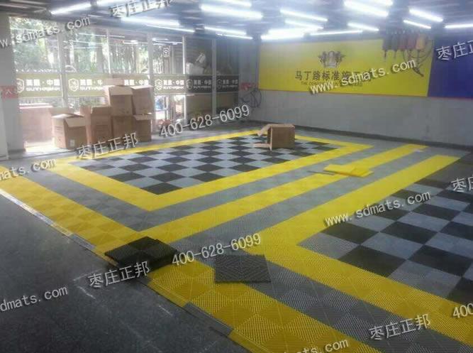 美鹰中国洗车房地面装修效果