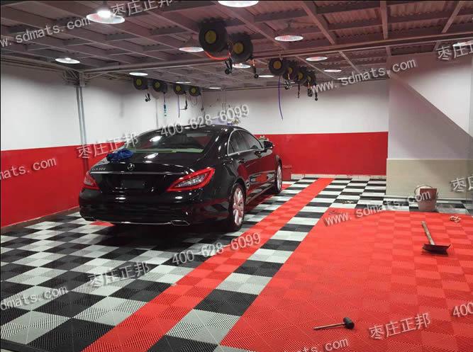 汽车美容店装修效果图 黑 白 红三色
